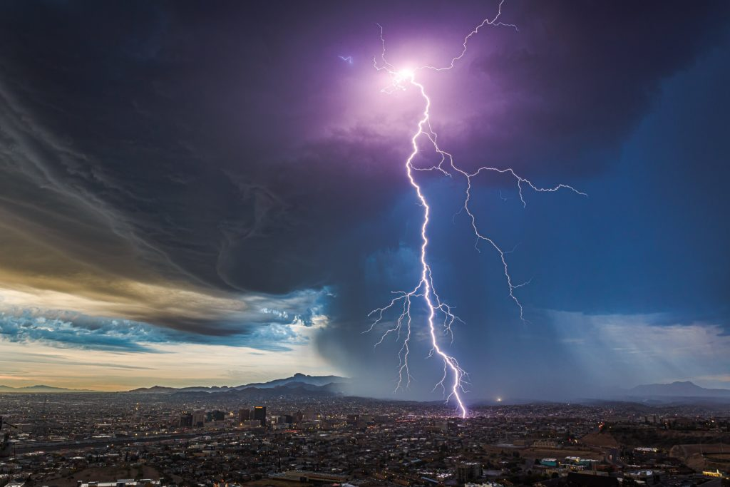 1st Place A rare November thunderstorm rolls north from Ciudad Juarez into El Paso, Texas by Lori Grace Bailey @lorigraceaz