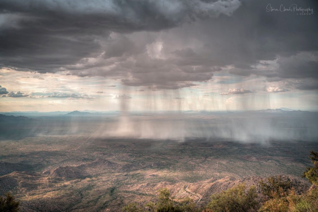 2nd Place A bird's eye view of a Tucson monsoon by Laura Hedien- Storm Clouds Photography @lhedien