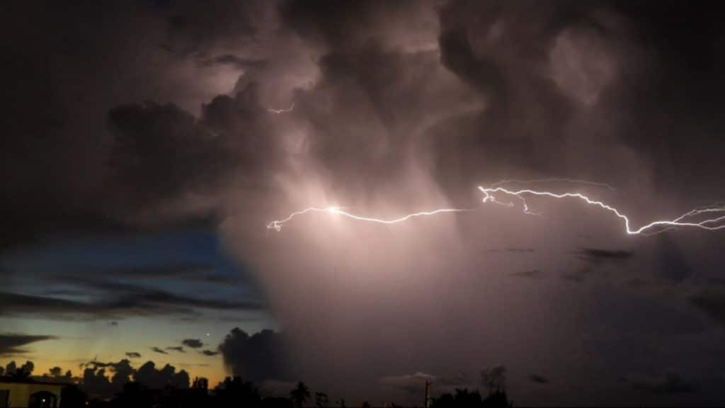 3rd Place Lightning Storm rushing over the Atlantic, Puerto Rico by Ann Rivera @annie7362