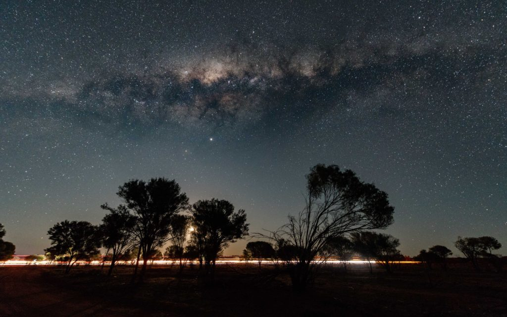 3rd Place Outback Western Australia as the Milky Way displays above a full, setting moon by Judy Leitch @leitchbird