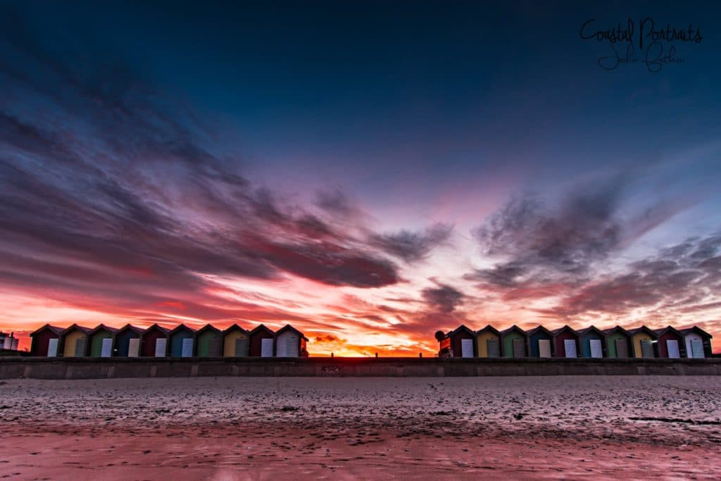 Blyth Beach Huts by Coastal Portraits @johndefatkin