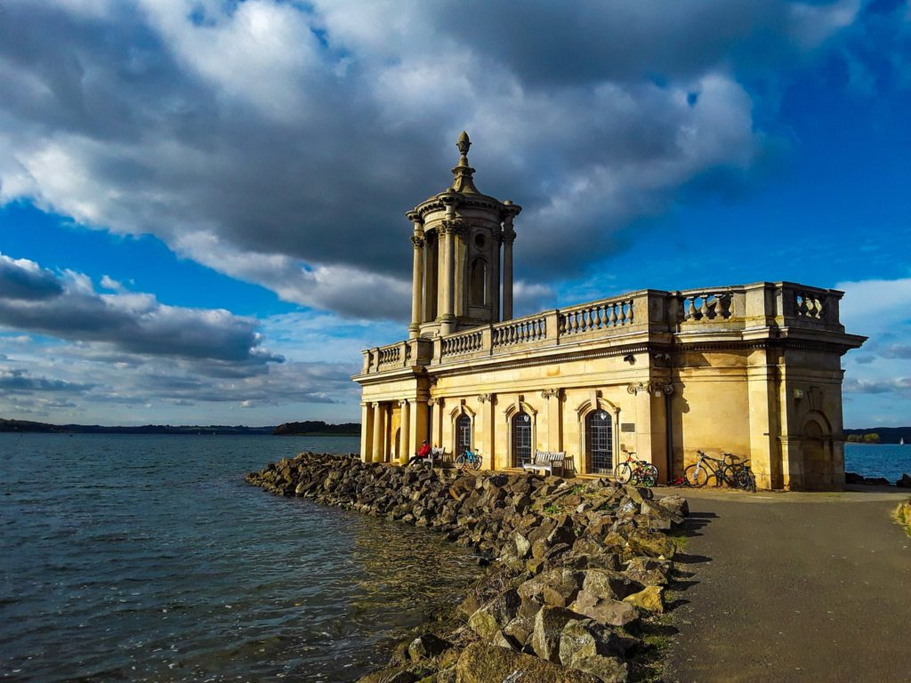 Clouds over Normanton Church, Rutland, UK by Christine Mitchell @chris_alpacas
