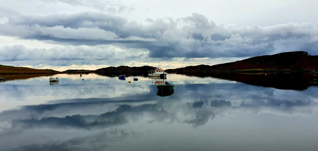 Perfect cloud reflection, Loch Leurbost, Isle of Lewis by Nic IlleMhoire @nicillemhoire