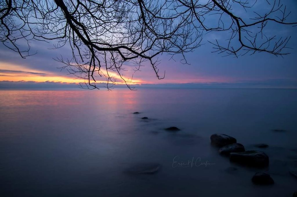 Sunrise overlooking Lake Michigan from Belgium, Wisconsin by EricCurtin @EricWCurtin