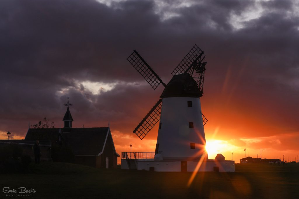 Sunset at the Lytham Windmill by Sonia Bashir @SoniaBashir_