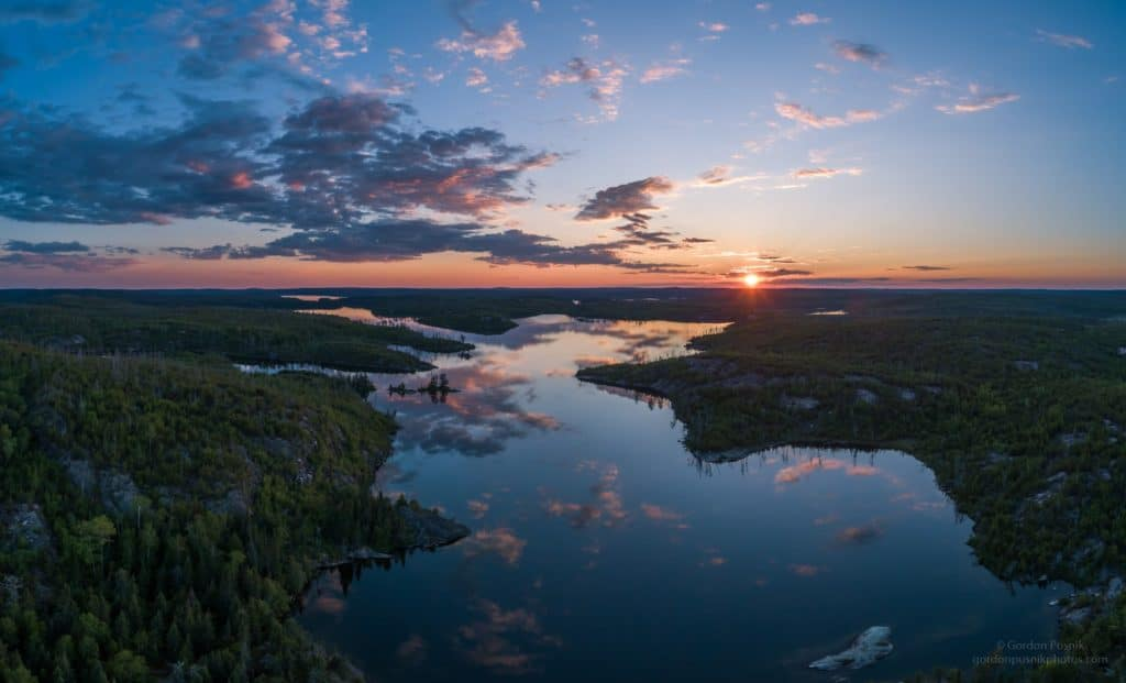 Sunset on a flat calm evening in N.W. Ontario by Gordon Pusnik @gordonpusnik