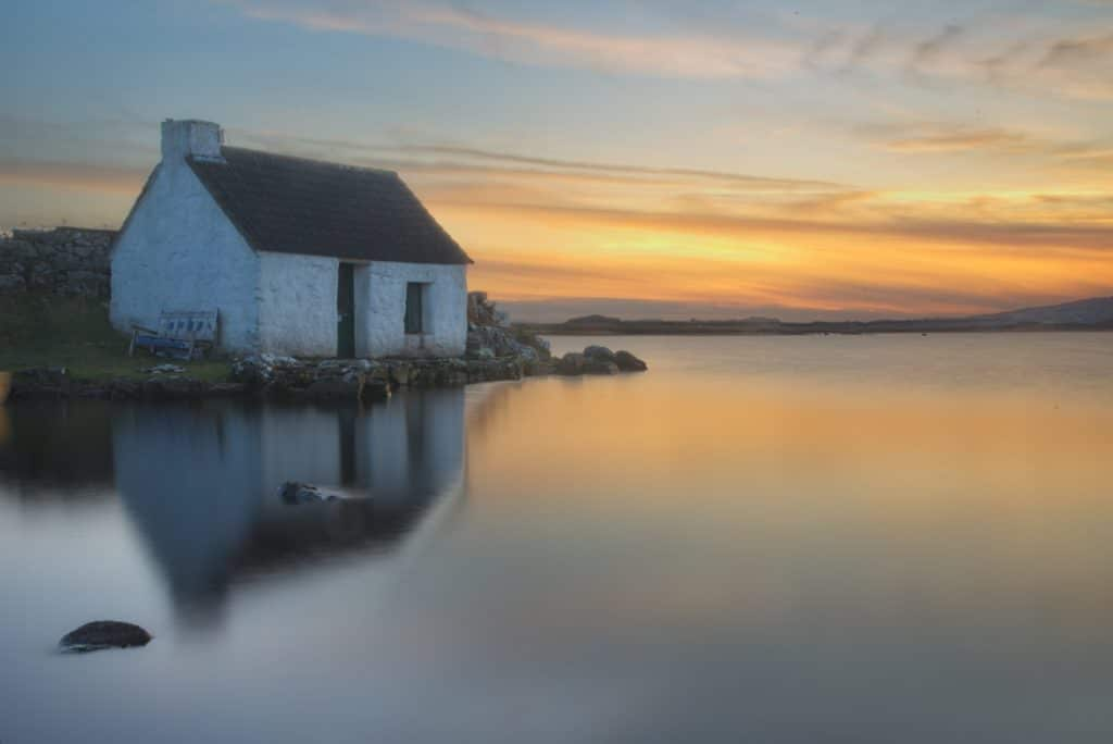 Sunset on the lake in Screebe, Galway by WoodRoad Photography @woodroadphotos