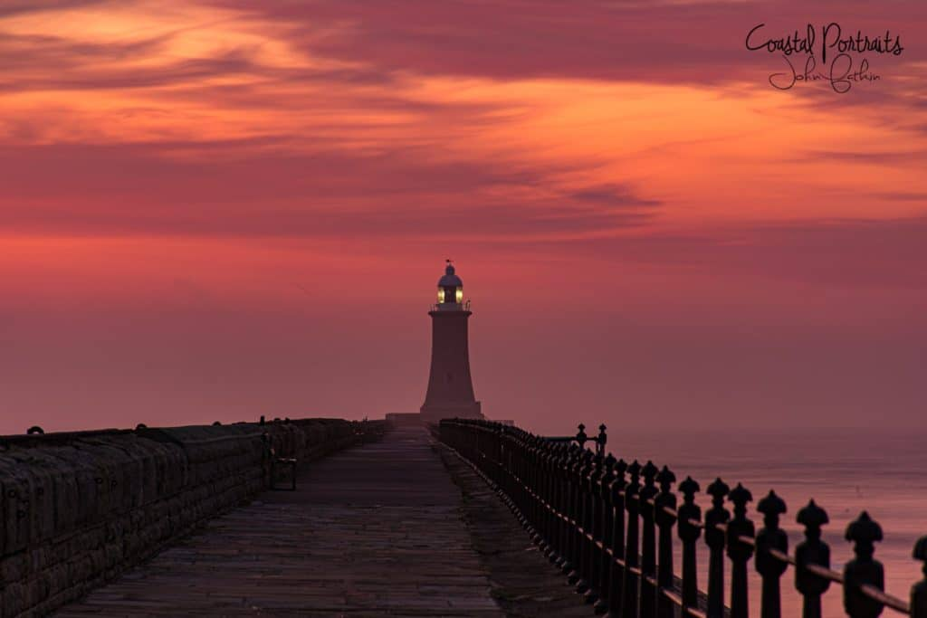 The North Pier Tynemouth by Coastal Portraits @johndefatkin