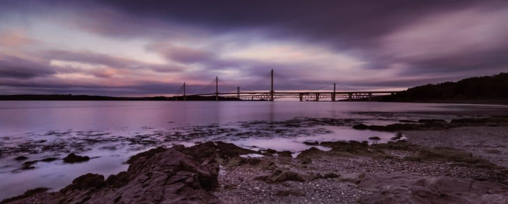 The Queensferry Crossing at sunset by Impact Imagz @ImpactImagz