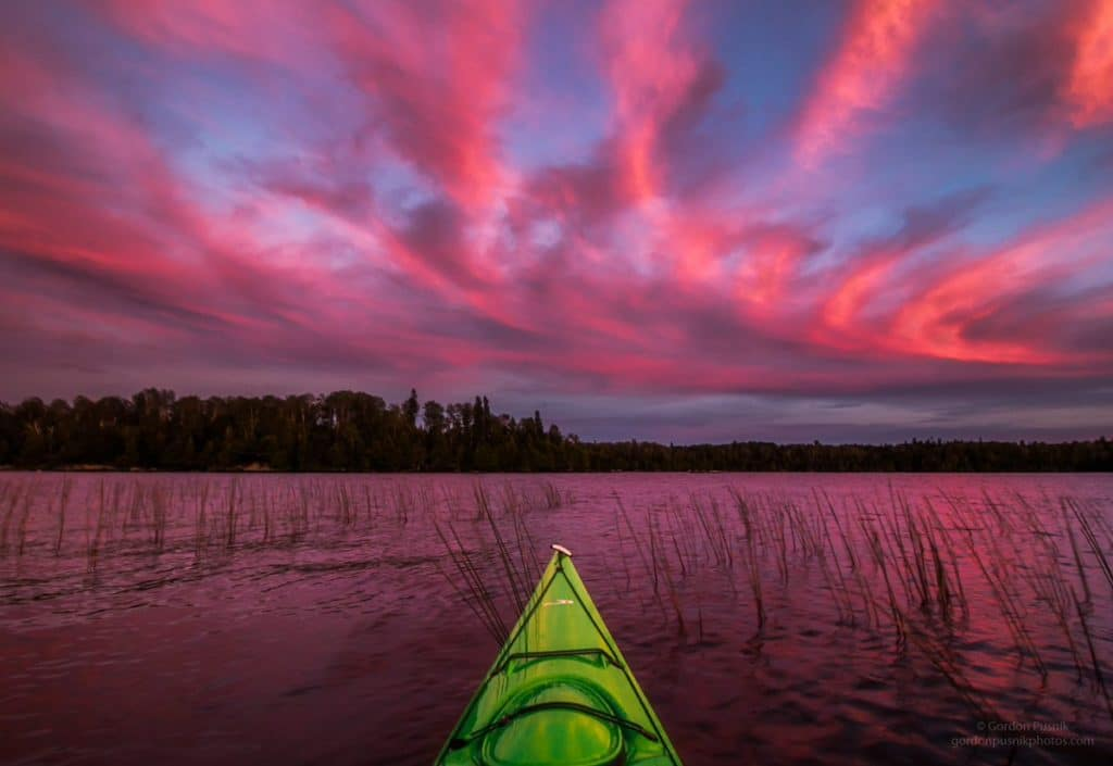 1st Place A crazy red sky seen while out paddling on a September evening in N.W. Ontario by Gordon Pusnik @gordonpusnik