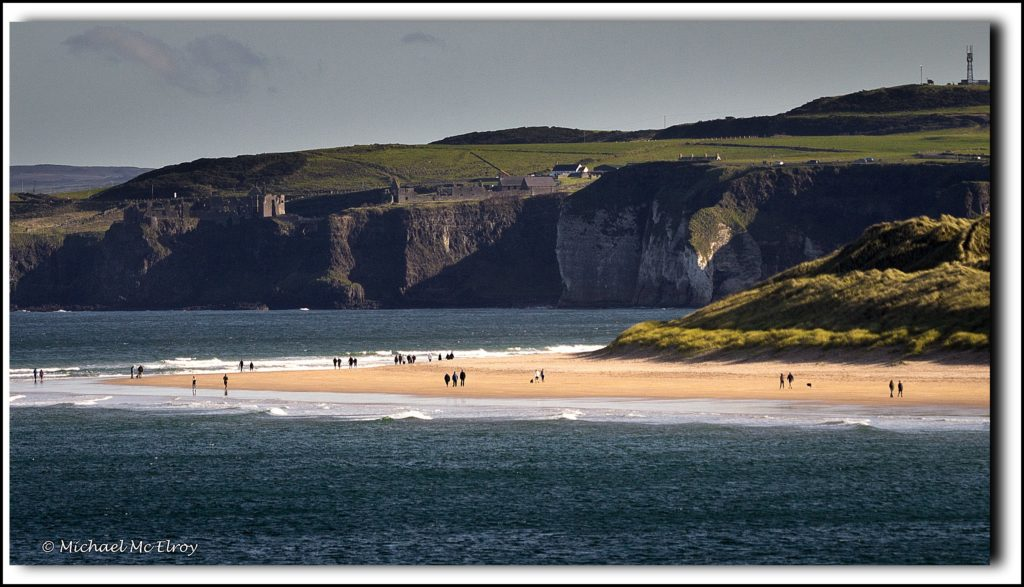 3rd Place Beach walkers making the most of Autumn Sun - Portrush East Strand, Northern Ireland by Michael Mc Elroy @M_McElroy