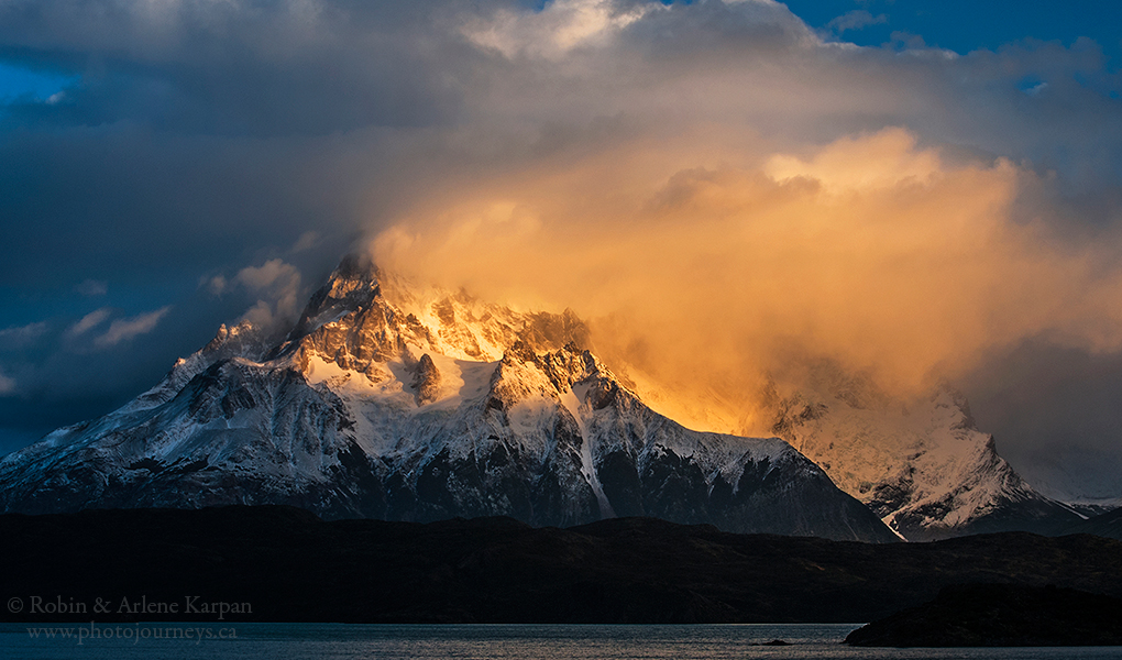 Mountain peaks in Torres del Paine National Park, Chile by Robin&Arlene Karpan @KarpanParkland