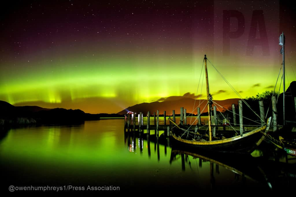 Northern Lights Derwentwater, Lake district