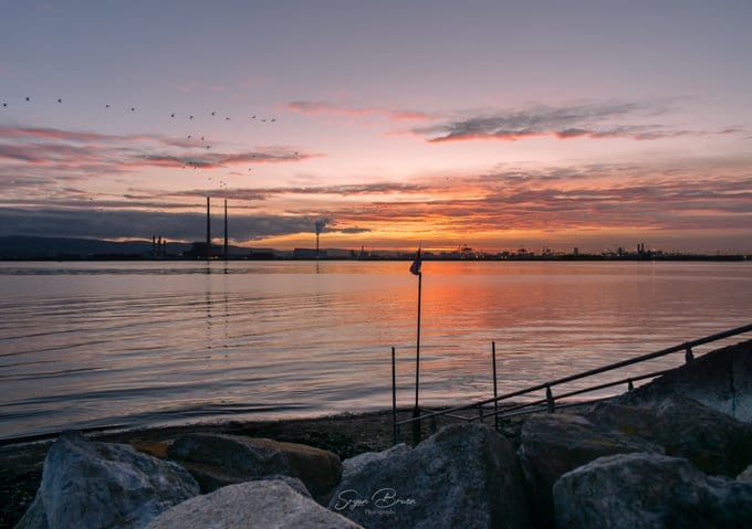 Red sky at night, shepherd's delight at Clontarf Wx Photography @PhotographyWx