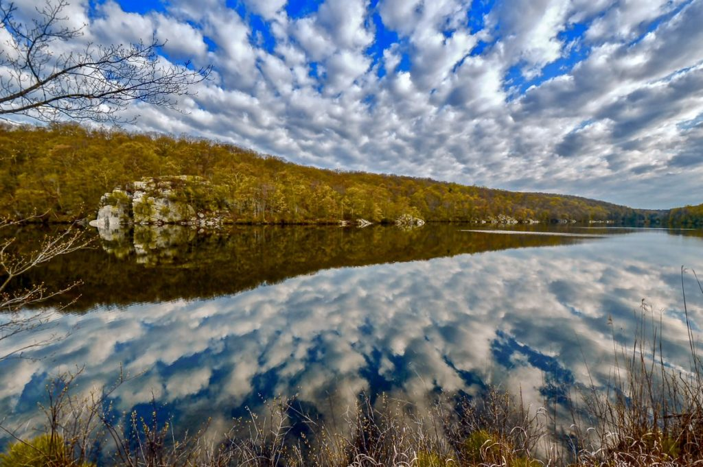 Reflection of clouds on Canopus Lake, Putnam County, NY by Tom Orlando @Tommyzeros