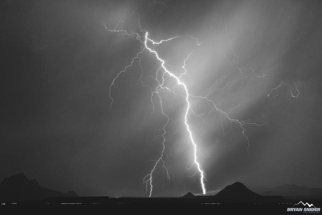 1st Place Lightning from Marana, Arizona just after sunset by Bryan Snider @BryanSnider