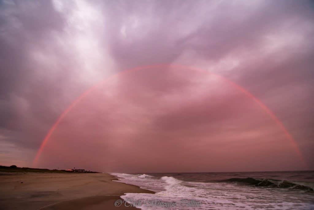 1st Place Red rainbow across Fire Island, NY by Trish MinogueCollins @TrishMinogPhoto