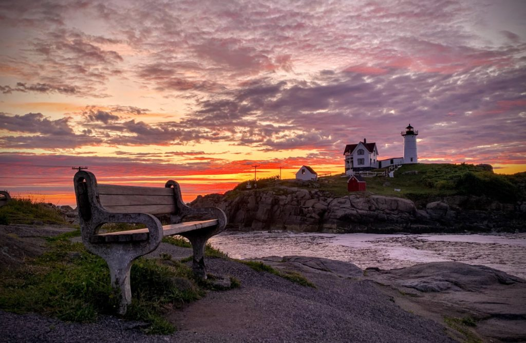 1st Place Summer sunrise at Nubble Lighthouse in Cape Neddick, Maine USA by Stephanie Glennon @SMartinGlennon