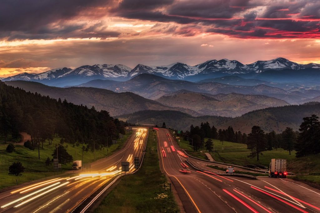 1st Place The Road to The Rocky Mountains of Colorado by Michael Ryno Photo @mnryno34