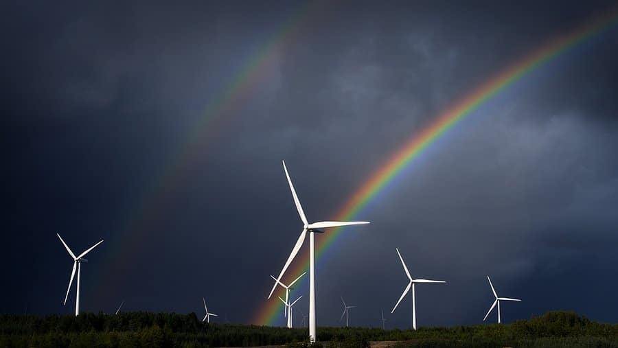 1st Place Windmills and Rainbows over Northumberland by Mackenzie King Photography @amkingphoto