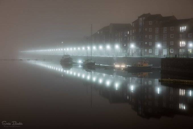 Foggy at the docks tonight | Preston by Sonia Bashir @SoniaBashir_
