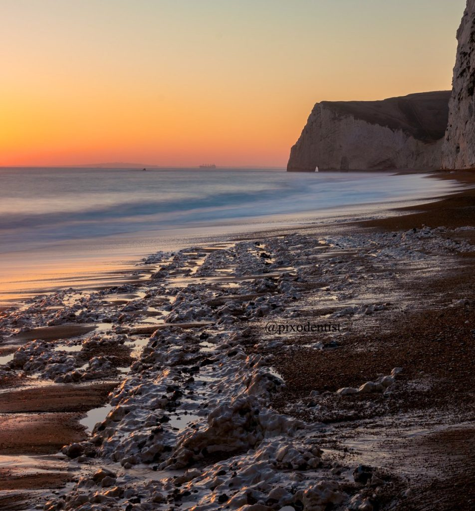 Last Light on Jurassic coast. Bat's Head Dorset by Atul M K @pixodentist