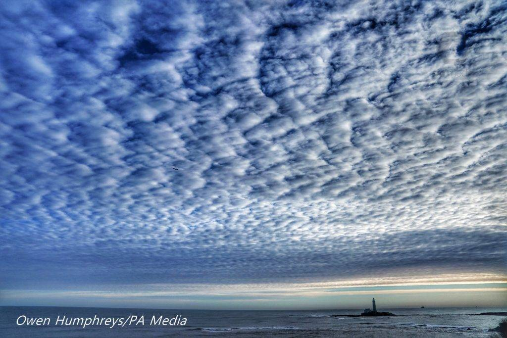 Mackerel sky over St Mary's Lighthouse in Whitley Bay by Owen Humphreys @owenhumphreys1