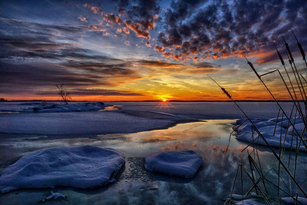 Sunset-and-Ice