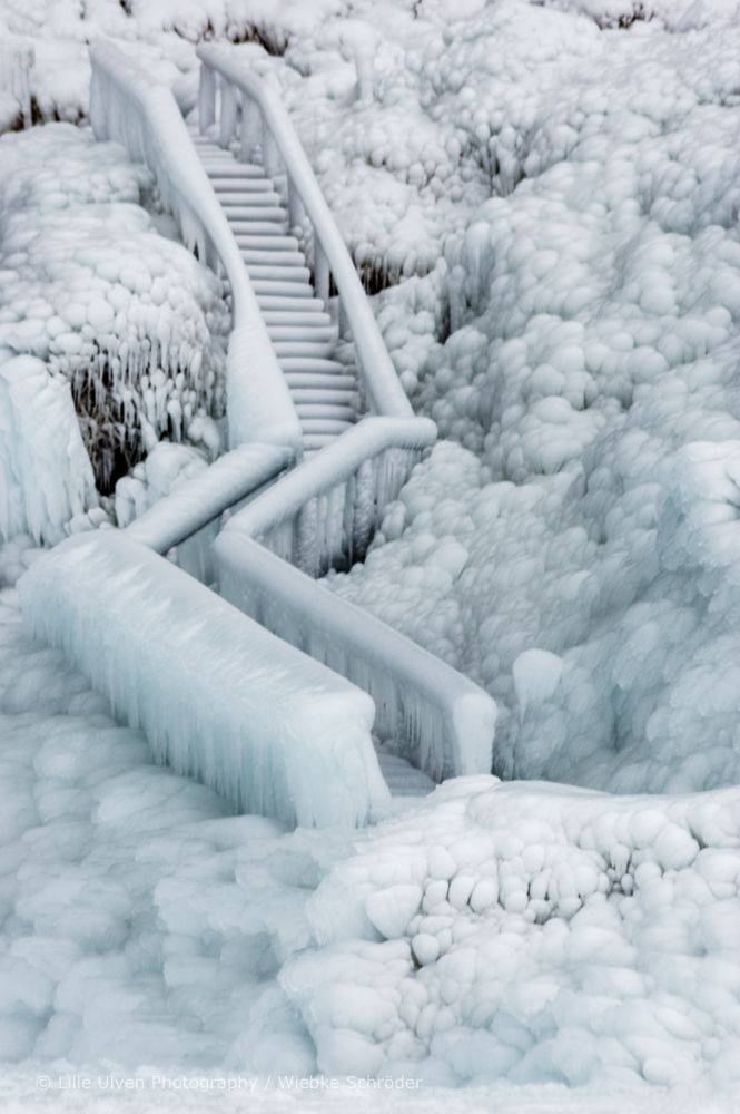 1st Place Iced staircase at Seljalandsfoss, Iceland by Wiebke Schröder @lille_ulven