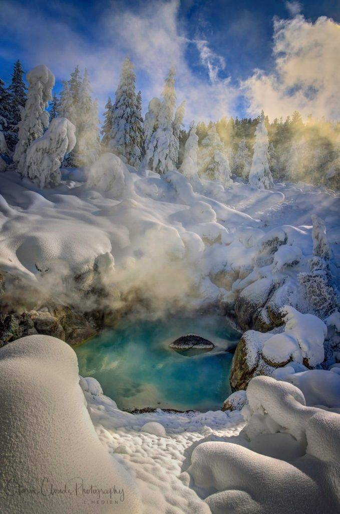 2nd Place A hot spring in Yellowstone National Park by Laura Hedien @lhedien