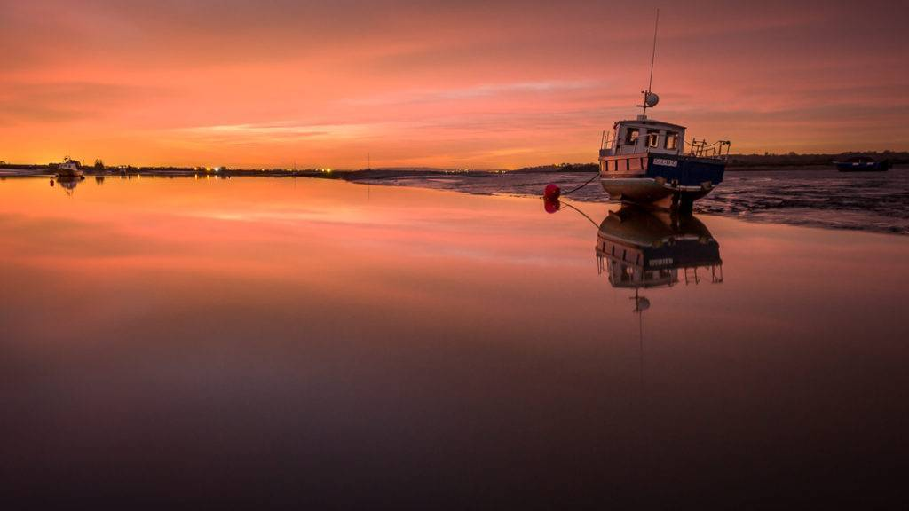 Sunset at Two Tree Island, Leigh-on-Sea, Essex by Andy @1AndyPix
