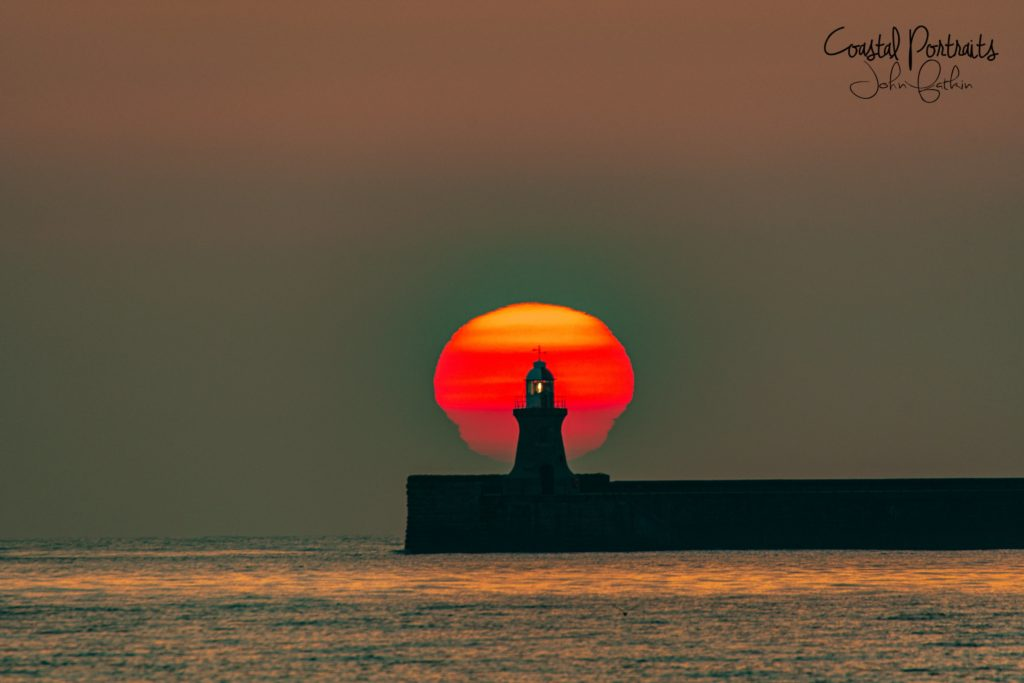 2nd Place Sunrise over the Mouth of the Tyne and South Shields Pier & Lighthouse by Coastal Portraits @johndefatkin