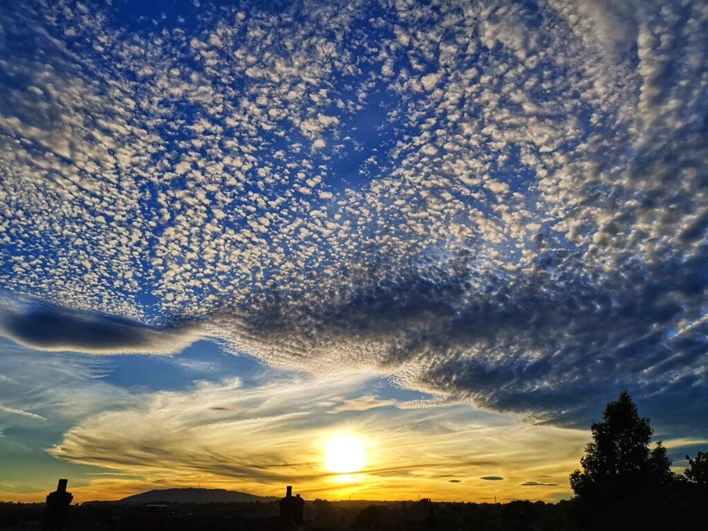 1st Place Stunning altocumulus clouds over Telford, Shropshire during sunset by Liam Ball @Liam_Ball92
