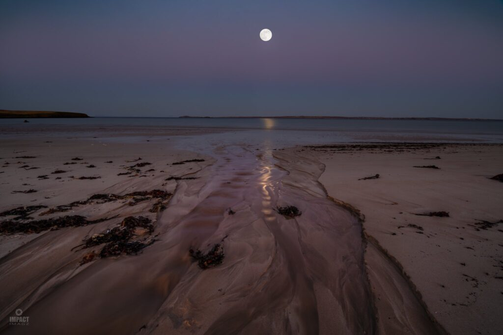 1st Place The Flower Moon rising above the Belt of Venus, taken from Gress Beach, Isle of Lewis by Impact Imagz @ImpactImagz