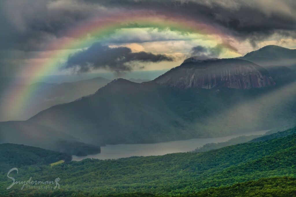 1st Place Rainbow over Table Rock Reservoir in upstate South Carolina by SnydermanPhotography @SnydermanPhotos