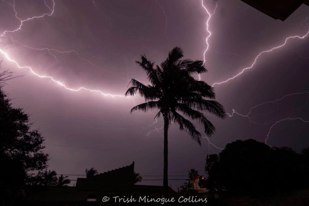 3rd Place Lightning storm from Melbourne Beach, FL by Trish MinogueCollins @TrishMinogPhoto