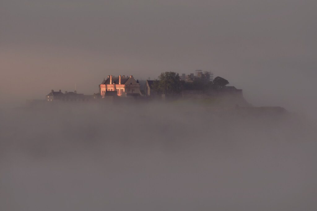 2nd Place Stirling Castle rising up through the morning mist by Charles McGuigan @CharlesMcGuiga2