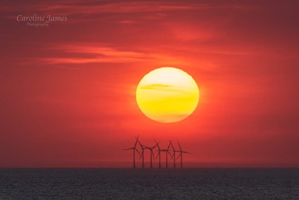 3rd Place Beautiful sunset taken from Blackpool by Caroline James Photography @CarolineJamesPh