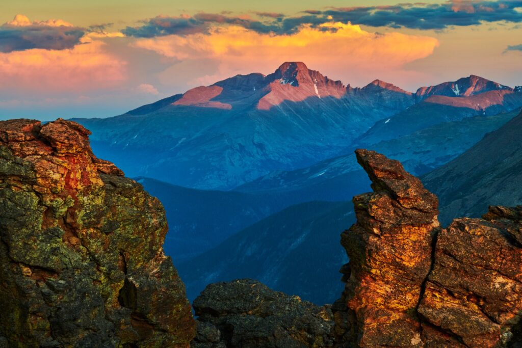2nd Place A colorful sunset over Longs Peak in Rocky Mountain National Park, Colorado by Michael Ryno Photo @mnryno34