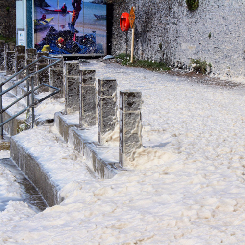 1st Place Sea foam at Porth Dafarch, Holy Island, Anglesey after Storm Ellen by Glynis Pierson @glynpierson