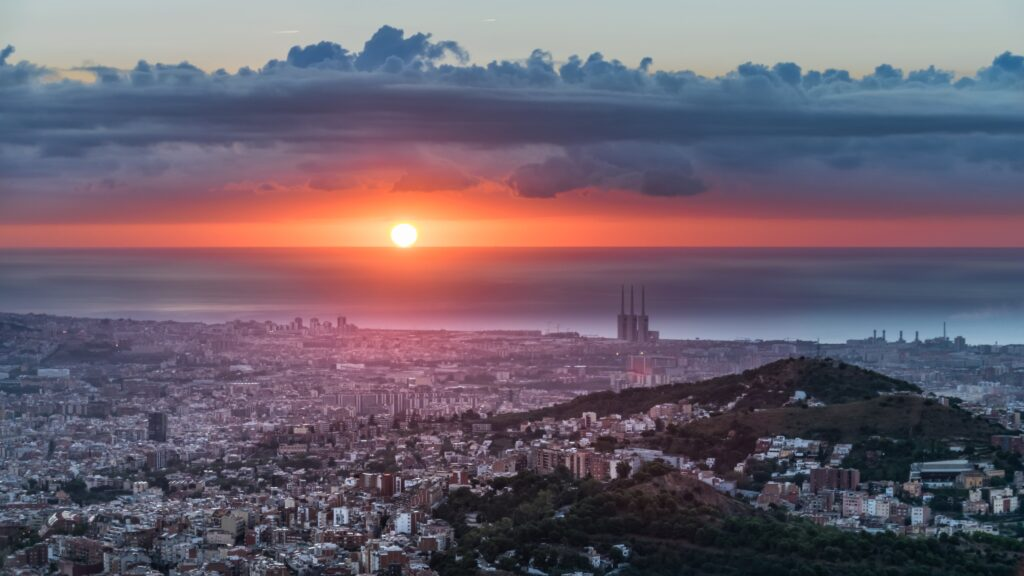 2nd Place Beautiful #sunrise from Fabra Observatory Barcelona by Alfons Puertas @alfons_pc