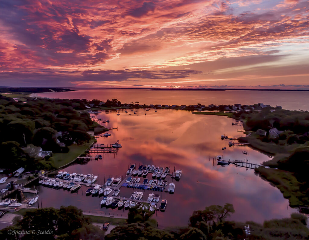 3rd Place Wooley Pond Sky Long Island by Joanna L Steidle @HamptonsDrone