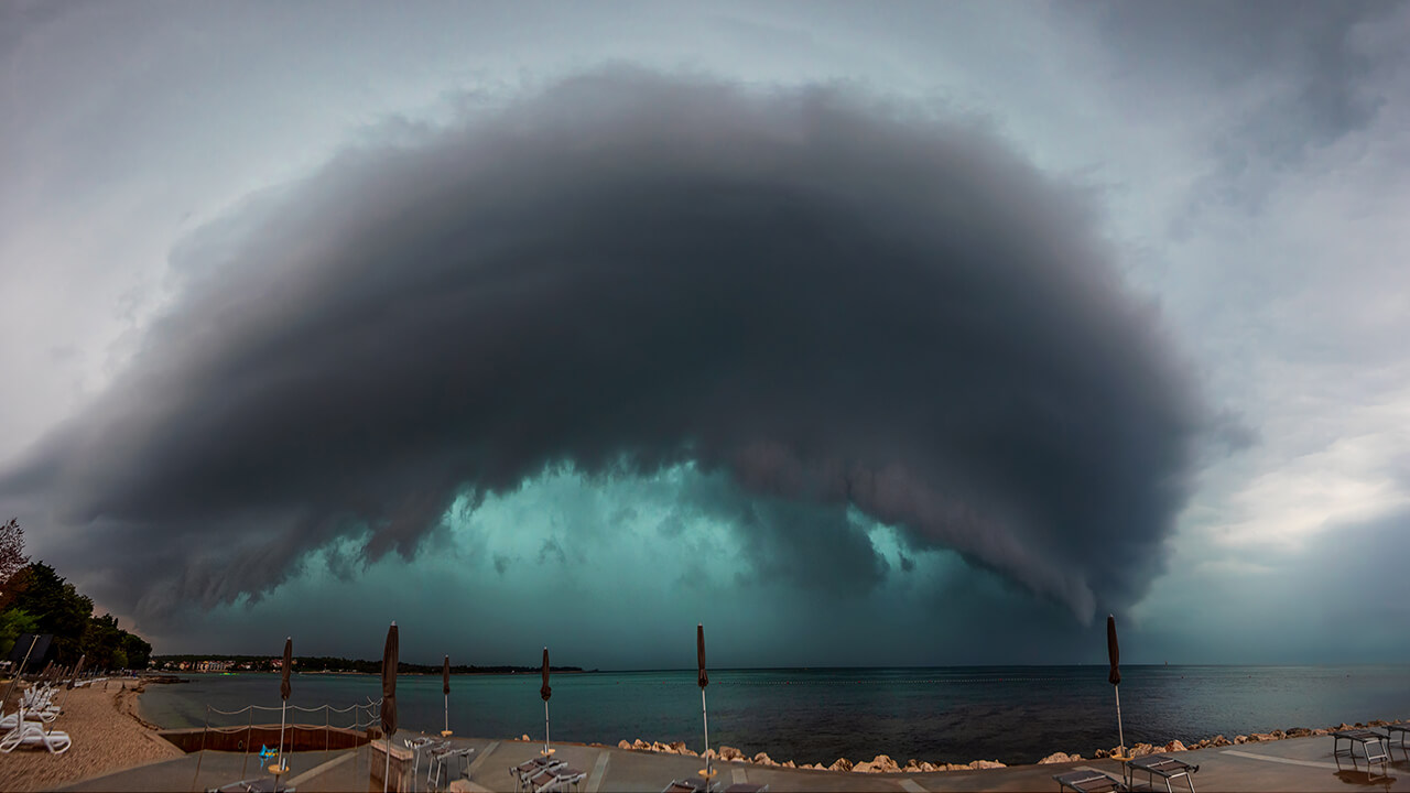 Mesmerizing storm over northwestern Adriatic Sea by Maja Kraljik