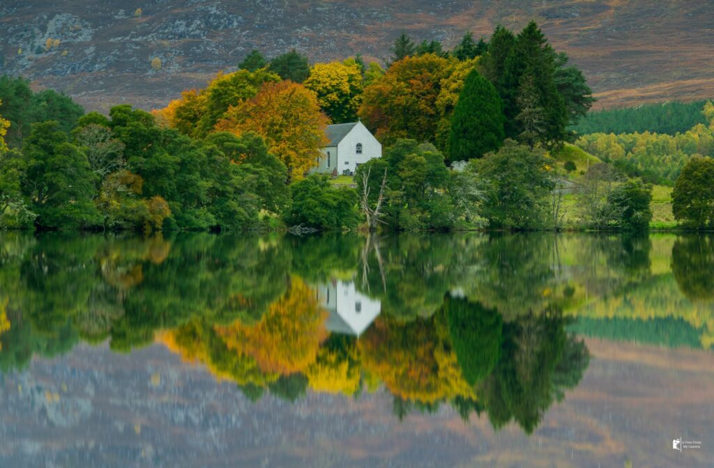 2nd Place Autumn reflection at Loch Alvie by A View From My Camera @ViewFromCamera