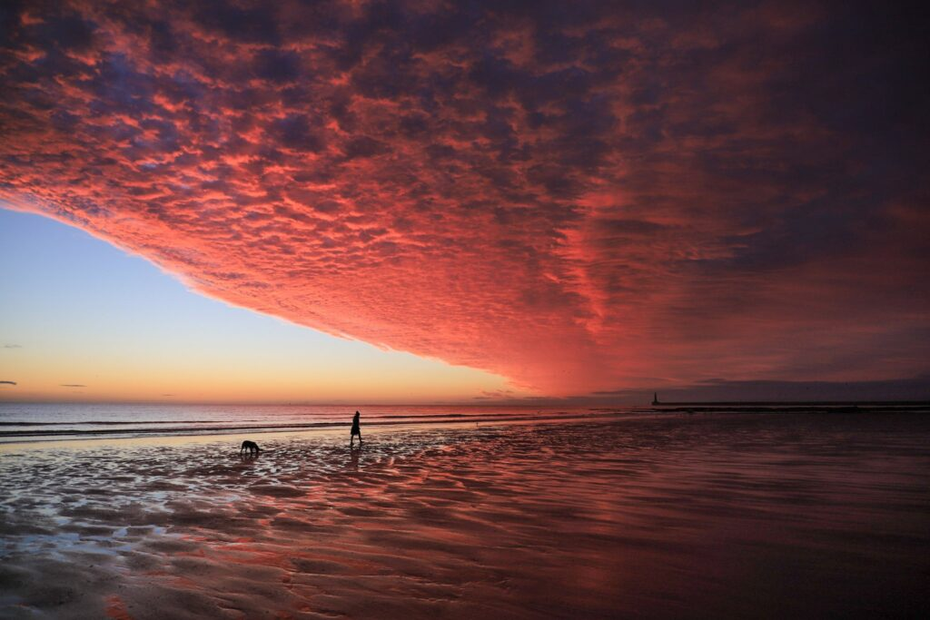 1st Place An epic and rare sunrise on Seaburn Beach, England by simon c woodley @simoncwoodley
