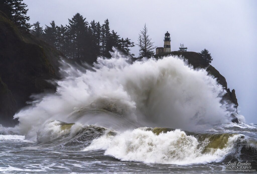 1st Place Huge waves at Cape Disappointment in WA state by Scott Loveless Photography @SLovelessPhoto