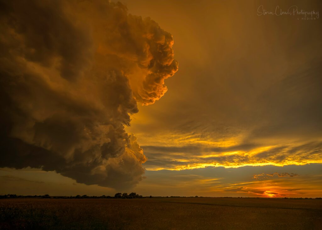 2nd Place A summertime supercell near Tilden Nebraska by Laura Hedien- Storm Clouds Photography @lhedien