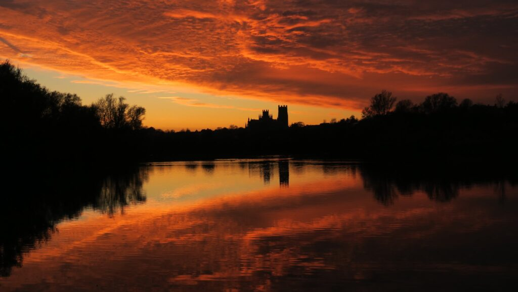 2nd Place amazing sunset over Ely Cathedral, Cambridgeshire by LivingRightNow @majestical_pix