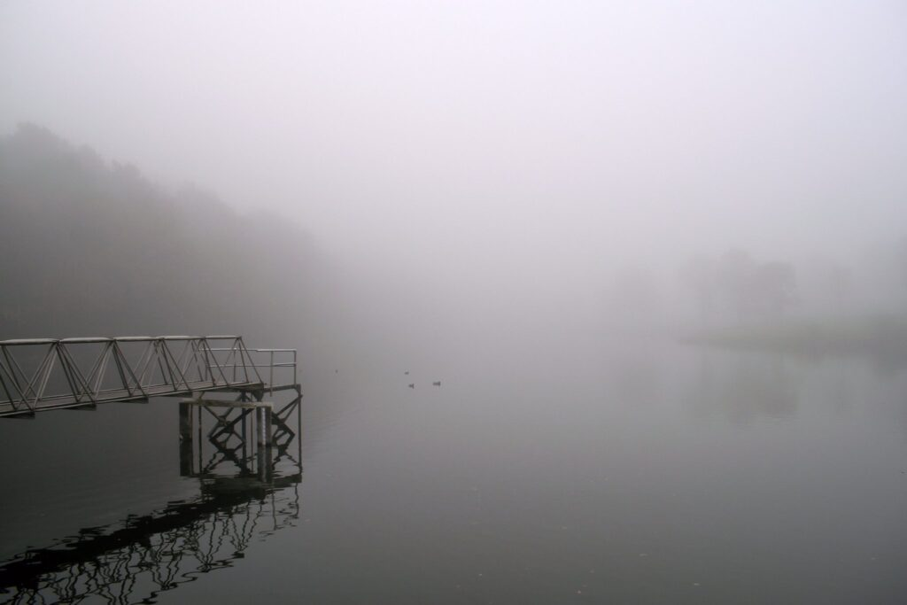 3rd Place Dense fog at the fishing lake Meltham Mills, Huddersfield by Jane Brook @jayceb19