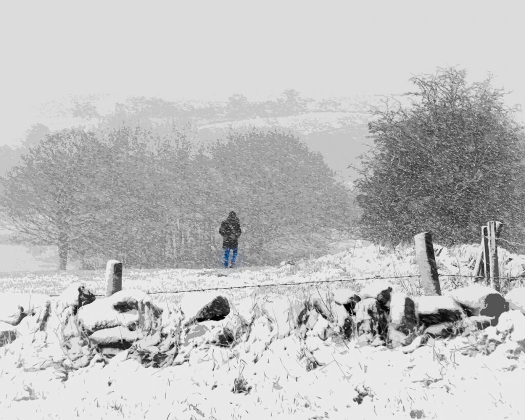 2nd Place Heading Home. Snow falling on Wilsden Hill, Bradford by Ron Pengelly @ronpengelly